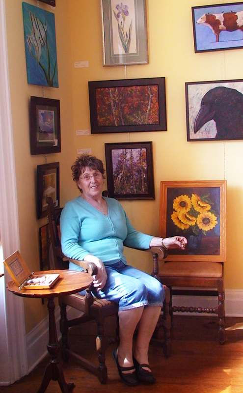 Donatella Cristoforetti displays paintings at art gallery in New Bern, Greater Good Gallery